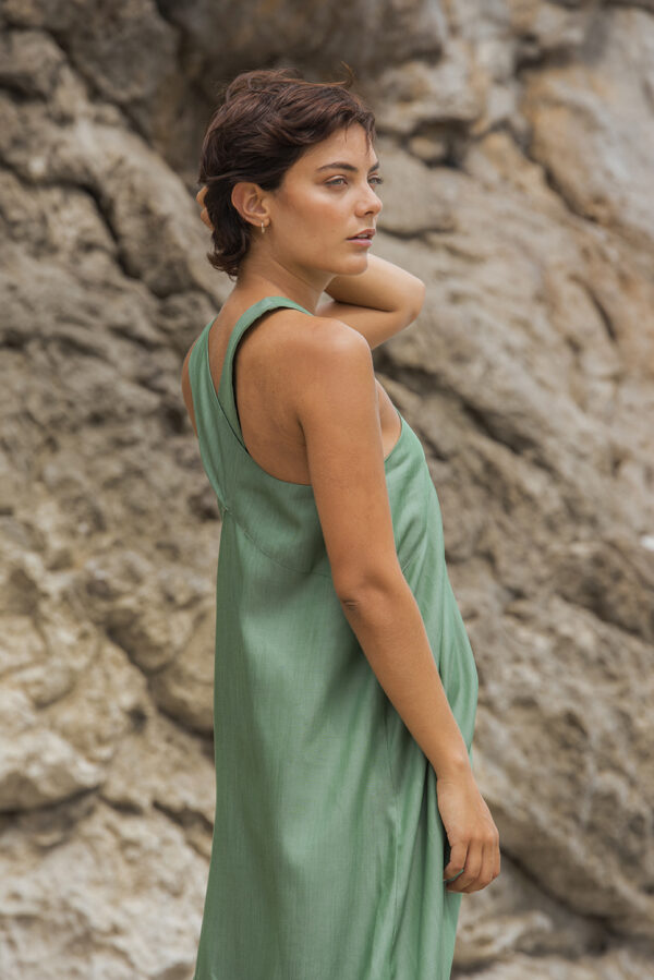 tencel long dress